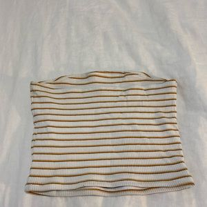 Striped tube top from Garage